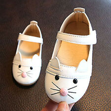 Kids Baby Toddler Girl Soft Sole Princess Shoes Cat Leather Moccasins Sneakers T