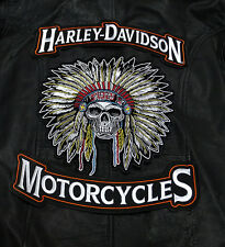 HARLEY 12 INCH TOP BOTTOM ROCKER WITH 10 INCH 3PC BACK PATCH