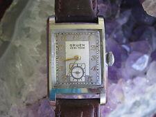 Gruen Vintage Stainless Steel Guildite Deco Wrist Watch, Early Waterproof Design