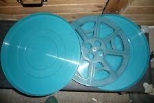 Cine film 16mm empty reel in BLUE case 13 inch