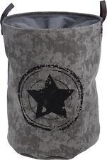 Wäschesack Star in grau - 75 Liter - Wäschesammler Stern Wäschekorb Wäschetonne