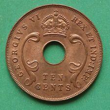 1941i Afrique de l'est 10 Cents UNC Uncirculated raisonnable lustre SNo43800