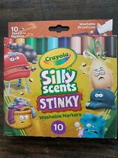 New Crayola Silly Scents Stinky Washable Markers 10ct Kid's Gift Birthday Party