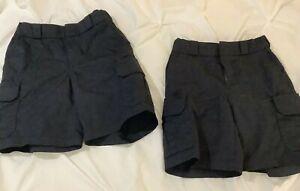 "Elbeco ""Tek3"" women's TACTICAL cargo shorts, dark navy, Size 4 LikeNEW (2 pair)"