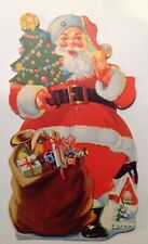 Vintage Santa Claus Die Cut Christmas Ornament Card / Tag NOS