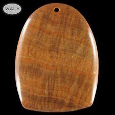 Golden Brown Calcite Pendant bead AB026145