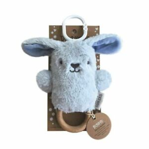 Bruce Bunny Wooden Teether - Blue