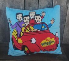 """The Wiggles Big Red Car Plush Soft Pillow Blue Square 16"""" x 14"""" Hard to Find"""