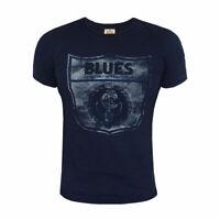 AFL Carlton Blues Retro Graphic T-Shirt  - Sizes S - 2XL  **SALE PRICE**
