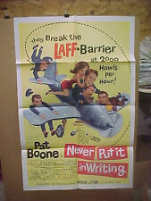 NEVER PUT IT IN WRITING, orig 1-sh / movie poster (Pat Boone, Fidelma Murphy)