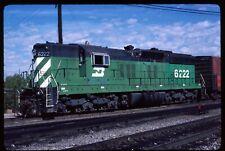 Original Rail Slide - BN Burlington Northern 6222 Denver CO 9-22-1983  SD9