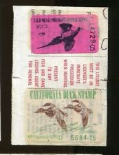 CALIFORNIA 1972 Hunting License W/ CA#2 Duck Stamp - 820
