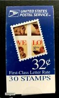 1996 US Stamps SC#3090 BK254 32c Booklet pane of 30 CV:$25