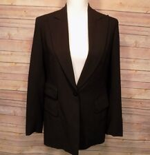 DONNA KARAN SIGNATURE Women's Blazer Size 6 Made In Italy Lined Wool Black