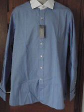 "NEW Ralph Lauren Mid Blue Chambray Long Sleeve Formal Shirt Cufflinks 17"" £85"