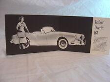 Vintage NOS 1954 Kaiser Darrin 161 Sports Car Sale Brochure 001161
