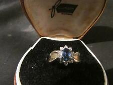 Beautiful Vintage Quality 9ct Gold, Sapphire & Diamond Cluster Ring