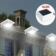 Waterproof Solar Gutter Lights Outdoor 4 LED Lighting Yard Fence Garden Lamps MX