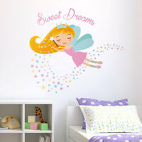 Fairy Wall Decal, Sweet Dreams Stars Wall Decal Sticker Girls Room Decor