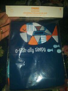 New nip Gymboree Gymmies 8 boy pajamas short sleeve set o fish ally sleepy 🐟