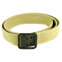 Genuine French army military canvas belt webbing army trousers pants sand khaki