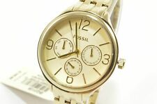 Fossil BQ3128 Suitor Gold Tone Stainless Steel Bracelet Ladies Chronograph Watch