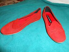 Oliberte red suede Blanca leather flats display/sample 7M New no box save $!