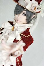 Black Butler Ciel Elegent Dark Red Cosplay Costume