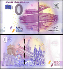 Zero (0) Euro Europe, 2017 - 3 (3rd Print),UNC,Orange Velodrome 80 Ans in France