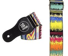Acoustic Electric Bass  Adjustable Guitar Strap Africa Ethnic Multicoloured Vibe