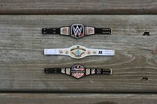 """WWE 3 Custom World Intercontinental Us Belts 6"""" wwe action (figures not included"""