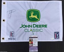 ZACH JOHNSON SIGNED JOHN DEERE CLASSIC FLAG 2018 PGA CHAMPIONSHIP PROOF JSA K51