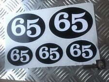 cafe racer 65 retro stickers, scooter, racer, rocker decals