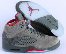 NIKE AIR JORDAN 5 RETRO CAMO DARK STUCCO-UNIVERSITY RED SZ 13 [136027-051]