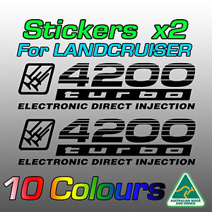 4200 turbo electronic direct injection stickers decals for Land Cruiser 100