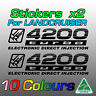Stickers decals for Land Cruiser 100 4200 turbo electronic direct injection