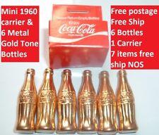 Vintage Coca Cola Soda Pop Miniature 6 Coke Bottles in Carrier Mint in Package