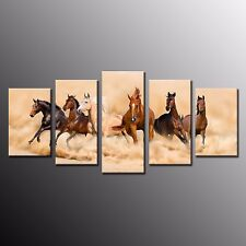 FRAMED Canvas Prints Running Horse HD Wall Art Picture Home Decor For Bedroom 5P