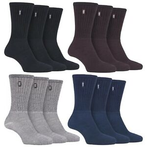 3 Pack Mens Retro Padded Sole Cotton Socks for Walking Boots by Jeep