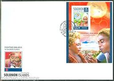 SOLOMON ISLANDS 2014 FIGHTING MALARIA SOUVENIR SHEET FIRST DAY COVER