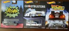 2020 Hot Wheels Back To The Future Time / Ghostbusters ECTO-1 / TV Batmobile