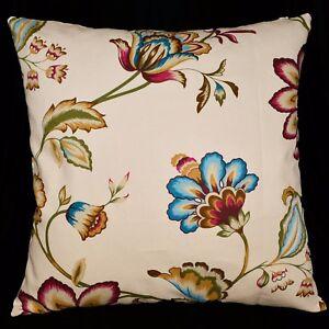 LF318a Fuschia Blue Khaki Pure Cotton Canvas Fabric Cushion Cover/Pillow Case