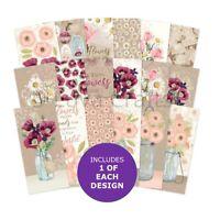 Hunkydory Flower Jars DL Matt-tastic Paper Pad - Sample Pack 18 Papers x 140gsm