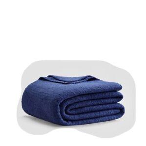 Sunday Citizen Snug Bed Blanket King Size & 2 Matching Pillow Shams Blue NEW