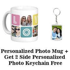 Personalized Photo Mug Printing With Free 2 Side Acrylic Photo Keychain