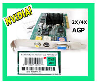 Retro Nvidia eGeforce2 MX-200 AGP 32MB Video Card RCA PORT LEGACY