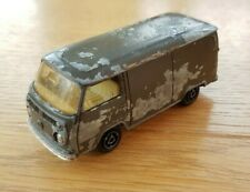 VINTAGE VW MAJORETTE FRANCE # 244 MILITARY VW VOLKSWAGEN FOURGON VAN US ARMY