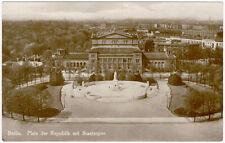 Berlin - Platz der Republik mit Staatsoper, Foto-Ansichtskarte um 1930