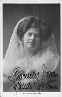POSTCARD    ACTRESSES   MAUDE  MORTIMER     ( Signed  )