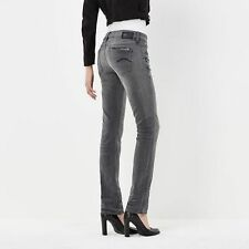 $220 Authentic G-STAR RAW Women Attacc Mid Straight Grey Super Stretch Jeans